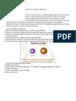Resumo Das Teorias Químicas Para Os Modelos Atômicos