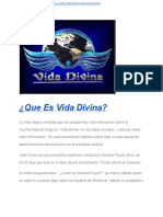 Oportunidad Vida Divina-Un Negocio Multinivel a Otro Nivel