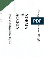 Von Wright - norma y Accion (de Las Normas en General) esp