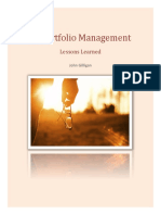 IT Portfolio Management Lessons Learned