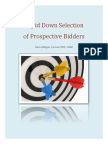 Rapid Down Selection of Prospective Bidders