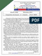 Examen Et Corrige Francais 3ASL T1 2015