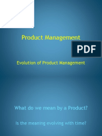 Evolution of Product Management