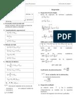 Formulas Pronóstico Regresión