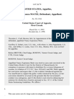United States v. Esperanza Matiz, 14 F.3d 79, 1st Cir. (1994)
