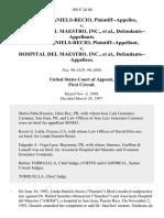 Daniels-Recio v. Del Maestro, Inc, 109 F.3d 88, 1st Cir. (1997)