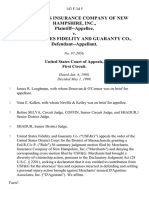 Merchants Insurance v. Guaranty Co., 143 F.3d 5, 1st Cir. (1998)
