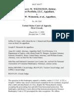 Patriot Portfolio v. Weinstein, 164 F.3d 677, 1st Cir. (1999)