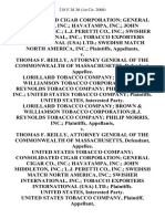 Lorillard Tobacco v. Consolidated Cigar, 218 F.3d 30, 1st Cir. (2000)