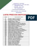 Lista Precios Junio 2016  drogueria meysar sac