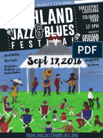 2016 Highland Jazz & Blues Festival Poster