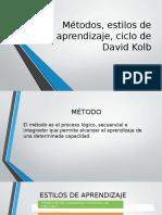 Métodos, Estilos de Aprendizaje, Ciclo De