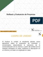 Rollback y Evaluación de Proyectos.