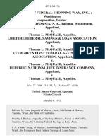 In the Matter of Federal Shopping Way, Inc., a Washington Corporation, Debtor. Bank of California, N. A., Tacoma, Washington v. Thomas L. McQuaid Lifetime Federal Savings & Loan Association v. Thomas L. McQuaid Evergreen First Federal Savings & Loan Association v. Thomas L. McQuaid Republic National Life Insurance Company v. Thomas L. McQuaid, 457 F.2d 176, 1st Cir. (1972)