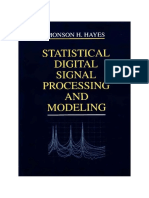 m Hayes Statistical Digital Signal Proc Part 1