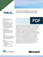 NEC Manufacturing Case Study