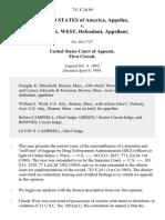 United States v. Claude K. West, 731 F.2d 90, 1st Cir. (1984)