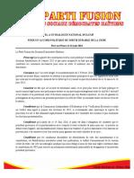 Position Du PFSDH 16 Juin