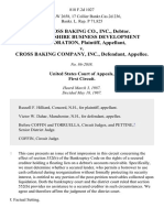 In Re Cross Baking Co., Inc., Debtor. New Hampshire Business Development Corporation v. Cross Baking Company, Inc., 818 F.2d 1027, 1st Cir. (1987)