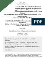 Commercial Union Insurance Company, First State Insurance Company, Plaintiffs v. Virginia Partners Ltd., Robert Day, Richard W. McIntyre Charles A. McIntyre Stanley H. Vilinsky, 840 F.2d 10, 1st Cir. (1988)