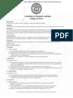 04) the Institue of Internal Auditors. (2000). Código de Ética en Consejo de Administración Del IIA. México, Pp. 1.
