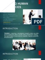 Report-training Human Resources