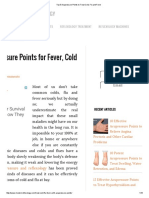 Top 5 Acupressure Points to Treat Cold, Flu and Fever
