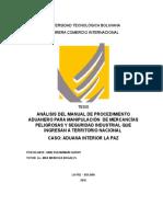 Seguridad Industrial en Deposito Aduana Bolivia