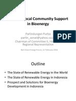 D2 Bioenergy1 Building Local Community Support in Bioenergy Parlindungan Purba.ppt