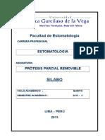 Silabo Protesis Parcial Removible