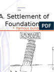 Settlement of Foundations (Notes)