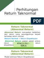 Model Perhitungan Return Taknormal