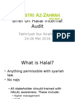 Brief on Halal Internal Audit