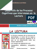 Desarrollo de Los Procesos Cognitivos Para La Lectura
