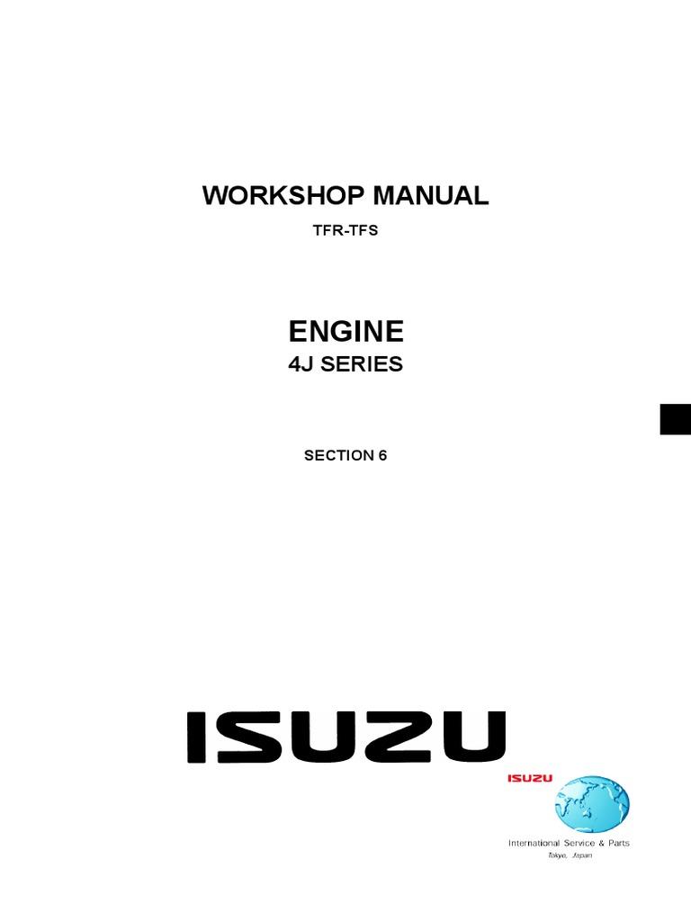 Isuzu 4j Series Diesel engine | Turbocharger | Diesel Engine
