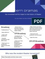 Modern Dramas Presentation