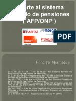 AFP - ONP - LEGISLACION