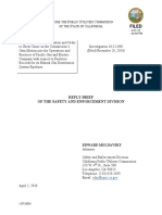 Reply Brief of the Safety and Enforcement Division