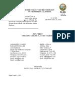 Reply Brief of Pg&e 4-01-16