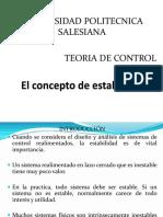 3.3 El Concepto de Estabilidad