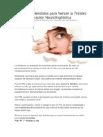 3 Pasos Espléndidos Para Vencer La Timidez Con Programación Neurolingüística