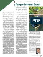 Tree-Snacking Tanagers Undermine Darwin
