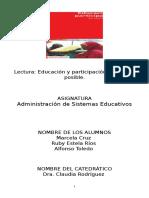 Sintesis Educación y Participación