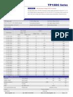 TP15DC,15W Wide Input Voltage DC/DC Converters
