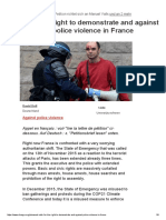 2016-06 Petition For the Right to Demonstrate and against Police Violence in France