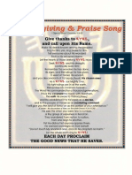 PRAISE AND THANKS SONG