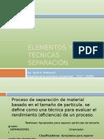 Elementos y Tecnicas Separacion