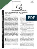 Social Enterprise as Algorithm