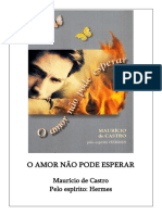 O Amor Nao Pode Esperar (Psicografia Mauricio de Castro - Espirito Hermes)