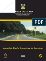 Manual de Diseno Geometrico de Carreteras [Colombia]